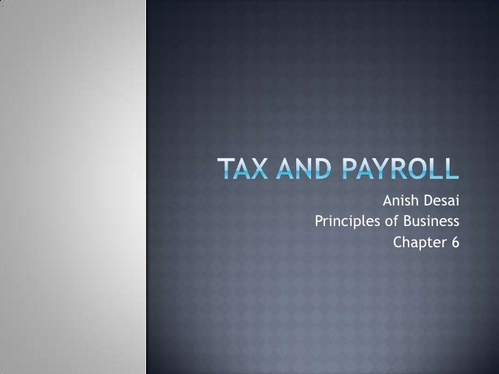 Anish Desai Principles of Business             Chapter 6