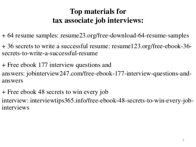 2 3 Top Materials For Tax Associate