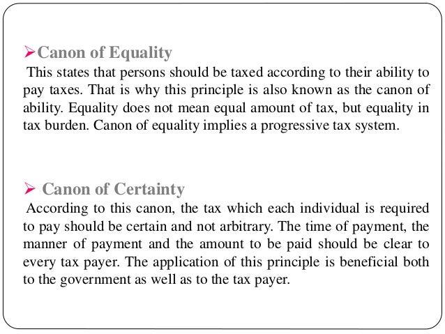 characteristics of a good tax system pdf