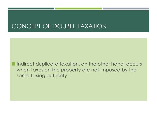 Property Taxed Twice On Distribution