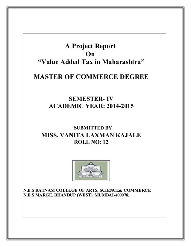 a report on value added tax Value added tax (vat) raises complex issues for many businesses.