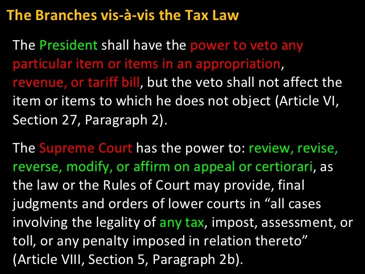 The  President  shall have the  power to veto any particular item or items in an appropriation , revenue, or tariff bill ,...