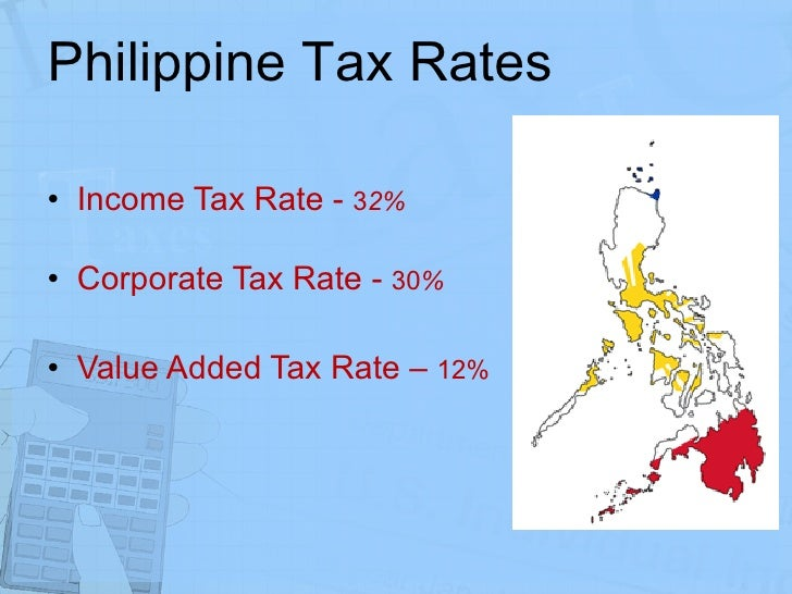 taxation in the philippines Income of residents in philippines is taxed progressively up to 32% resident citizens are taxed on all their net income derived from sources within and without the philippines for nonresident, whether an individual or not of the philippines, is taxable only on income derived from sources within the philippines.