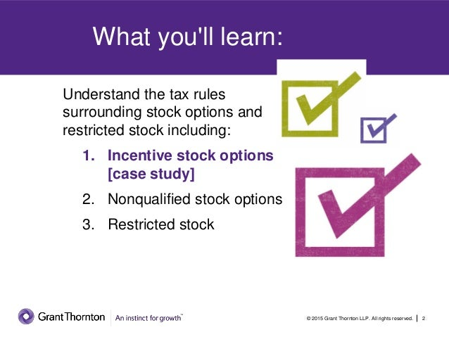 Taxation of stock options and restricted stock