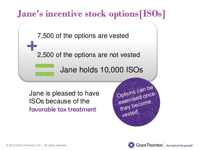 Taxation incentive stock options