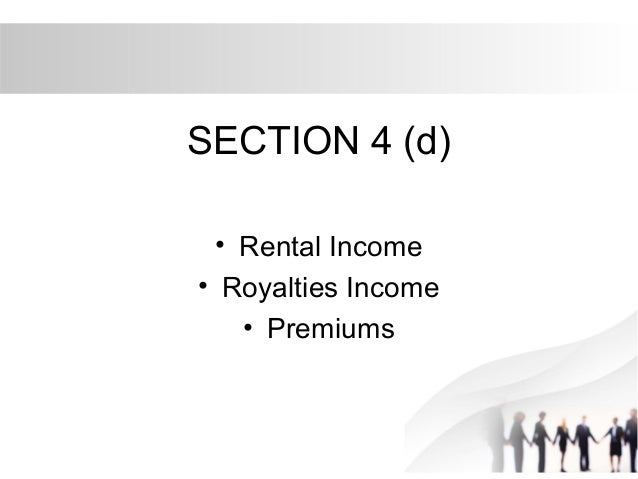 taxation malaysia rent section 4 a Taxation paper f6 (mys) (malaysia) tuesday 2 june 2015 the association of chartered certified accountants (4) promotional pamphlets and booth rental 5.