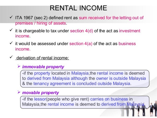 Taxation principles: Dividend, Interest, Rental, Royalty ...