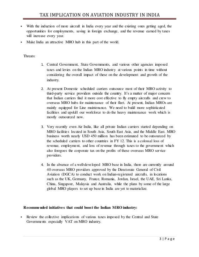 Taxation under avA DETAILED ANALYSIS ON TAX IMPLICATION IN INDIAN AVIATION INDUSTRYiation industry Slide 3