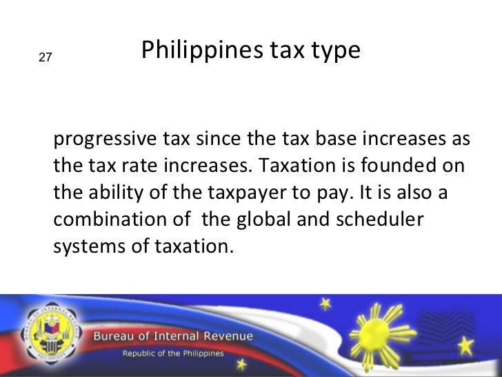 philippine taxation system Tax guide on philippine taxation laws  the constitution of the philippines (constitutional limitations) 1987 constitution  available at the bir library observance of due process of law section 1, article iii, bill of rights  observance of equal protection of the laws.