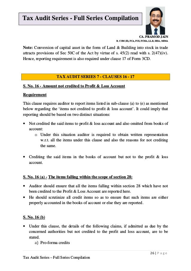 Tax audit series under section 44AB