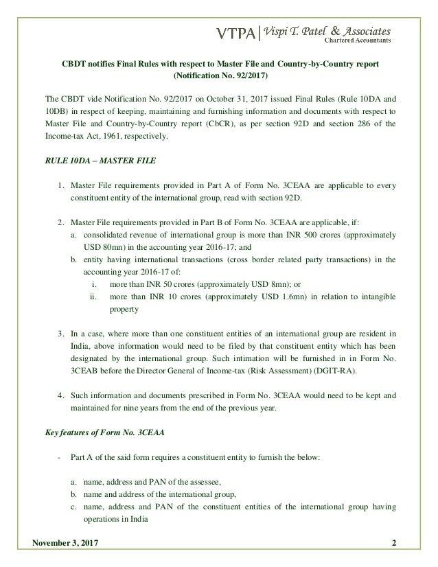 VTPA Tax Bulletin: CBDT notifies final rules for ...