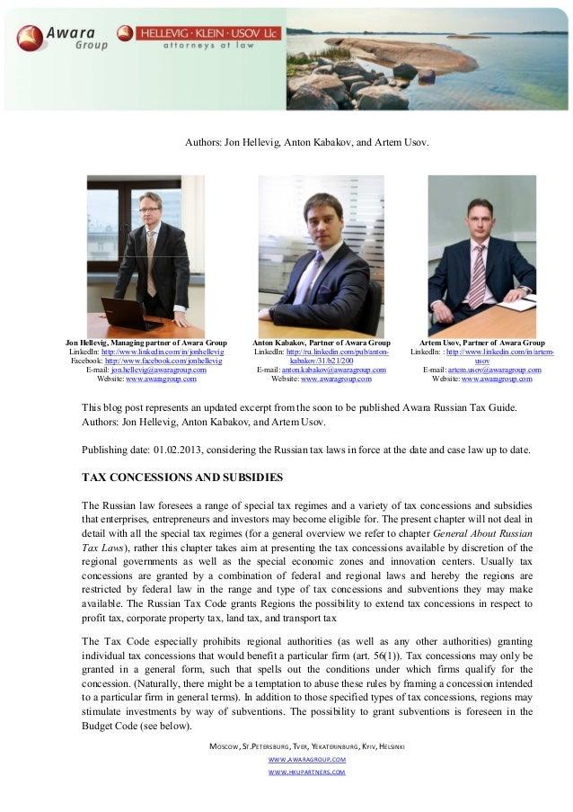 Authors: Jon Hellevig, Anton Kabakov, and Artem Usov.Jon Hellevig, Managing partner of Awara Group          Anton Kabakov,...
