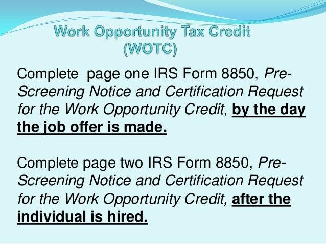 Tax Credits 2013