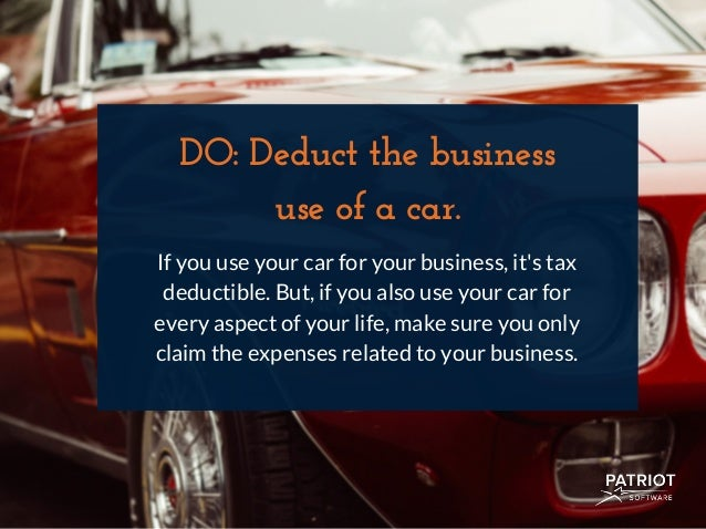 Do Deduct The Business Use Of A Car