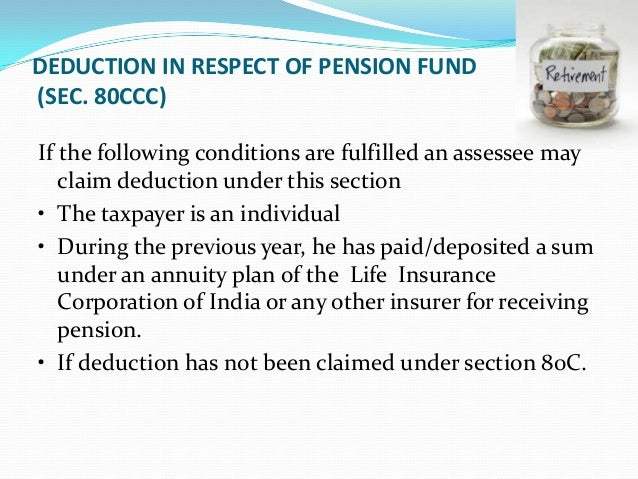 SECTION 80CCD – PAYMENT TONEW PENSION SCHEME