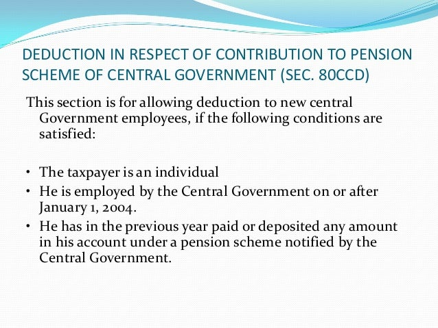 SECTION 80CCE – LIMIT ONDEDUCTIONS