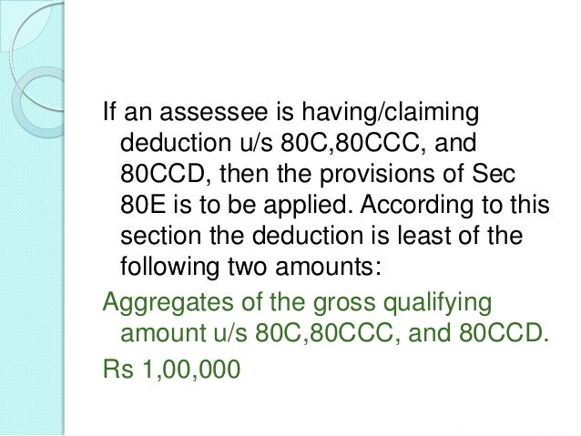 SECTION 80CCF – INVESTMENT ININFRASTRUCTURE BONDS