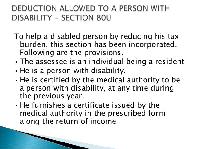 Tax deductions u/s 80c to 80u