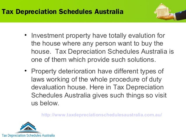 tax depreciation schedules australia for claiming the deductions