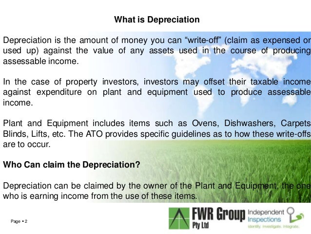 Can Uou Write Off Depreciation On Commercial Property