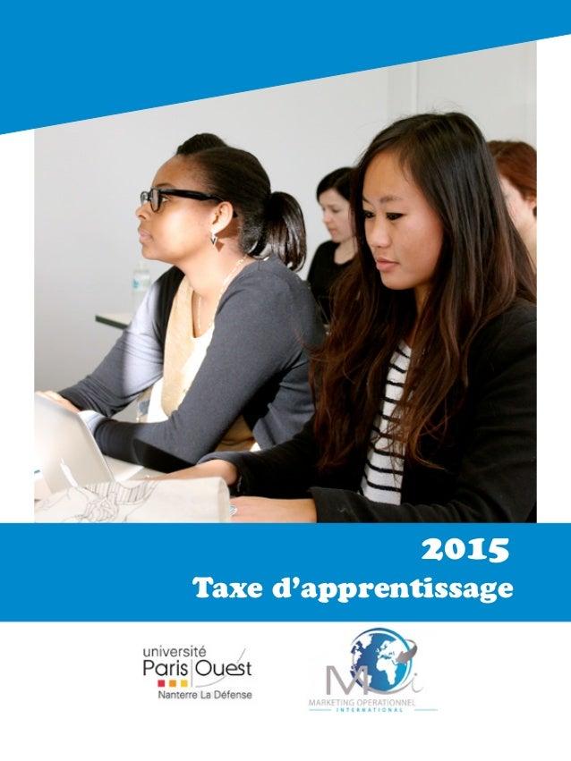 Taxe d'apprentissage 2015