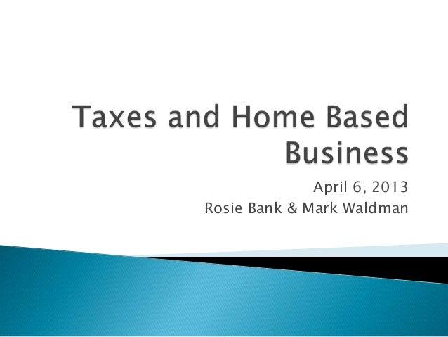 April 6, 2013Rosie Bank & Mark Waldman