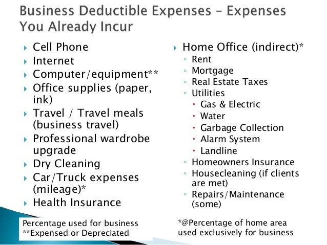 home business tax write offs