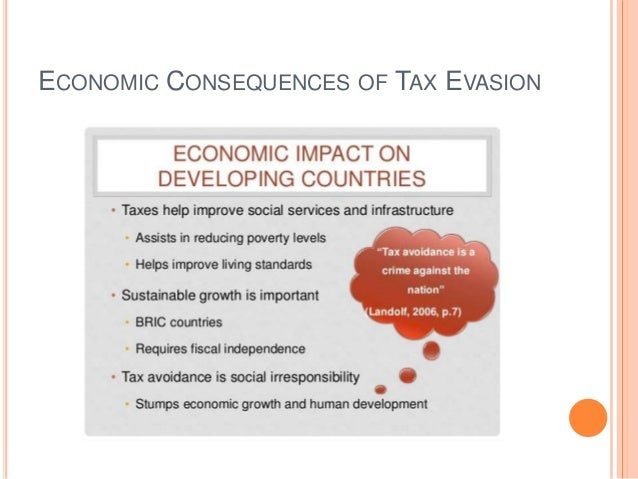 impact of tax evasion and tax avoidance on the economy
