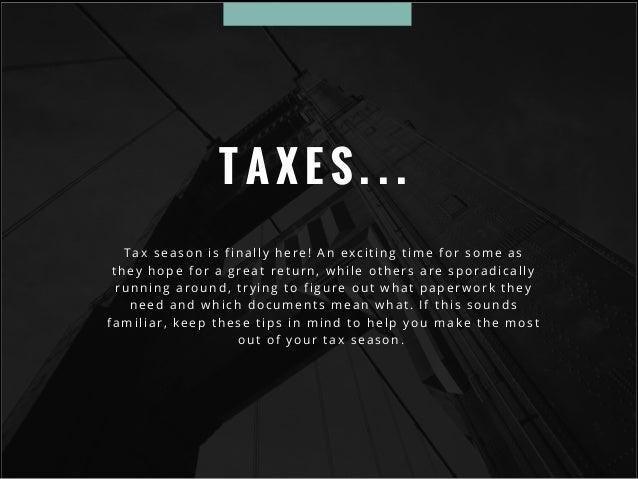 Tax filing tips Slide 2