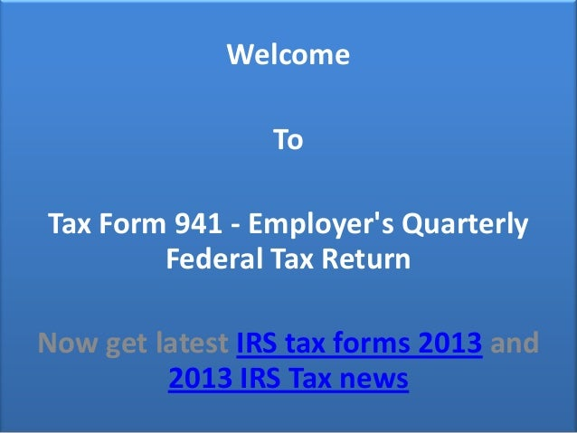 Tax Form 941 Information
