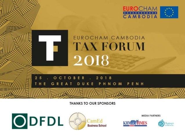 EUROCHAM CAMBODIA TAX FORUM 2018