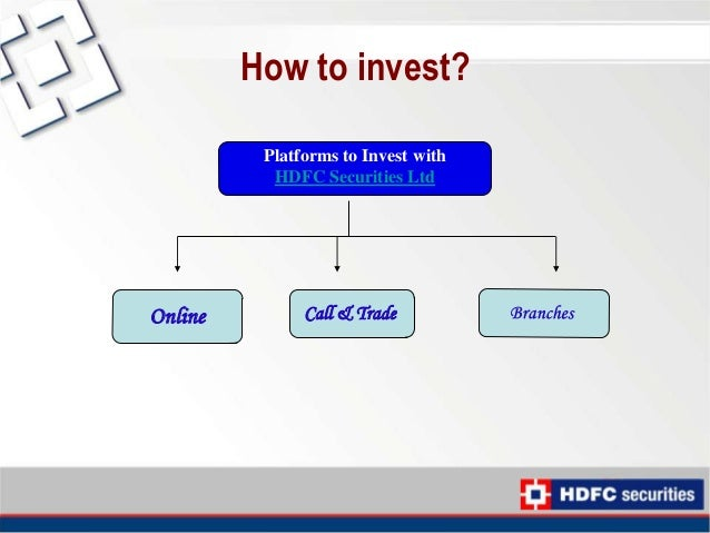 How to do option trading in hdfc securities