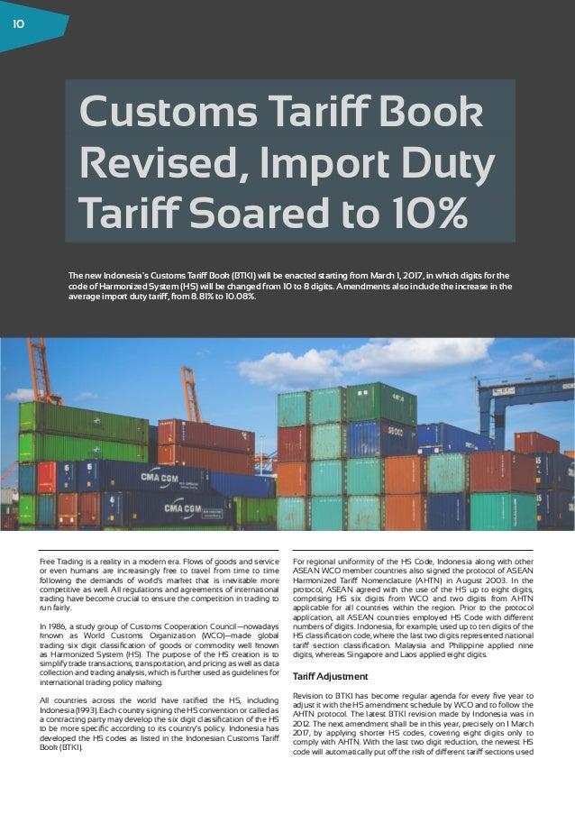 indonesian customs tariff 2017