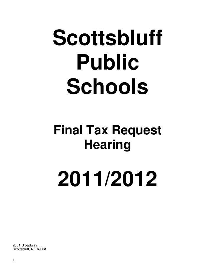 Scottsbluff                          Public                         Schools                        Final Tax Request      ...