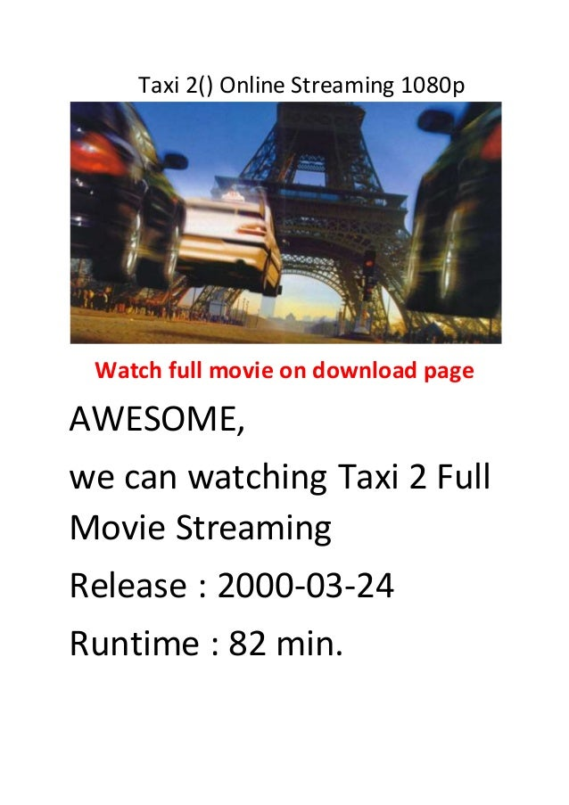 Taxi 2 Streaming