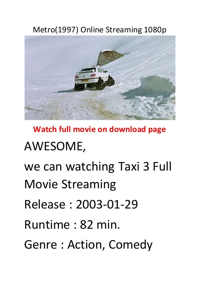 taxi 3 full movie free online