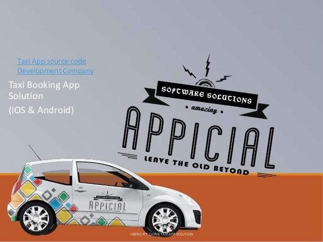 Taxi app source code development company