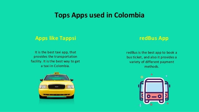 Taxi Application in Colombia Slide 2