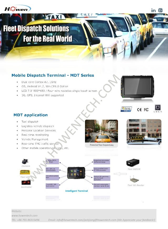 Taxi dispatch system --Rugged Mobile Data Terminal (Mobile computerin…