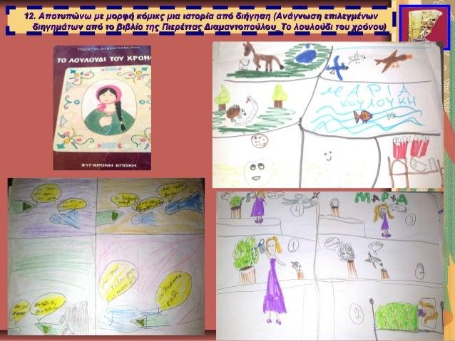12. Αποτυπώνω με μορφή κόμικς μια ιστορία από διήγηση (Ανάγνωση επιλεγμένων12. Αποτυπώνω με μορφή κόμικς μια ιστορία από δ...