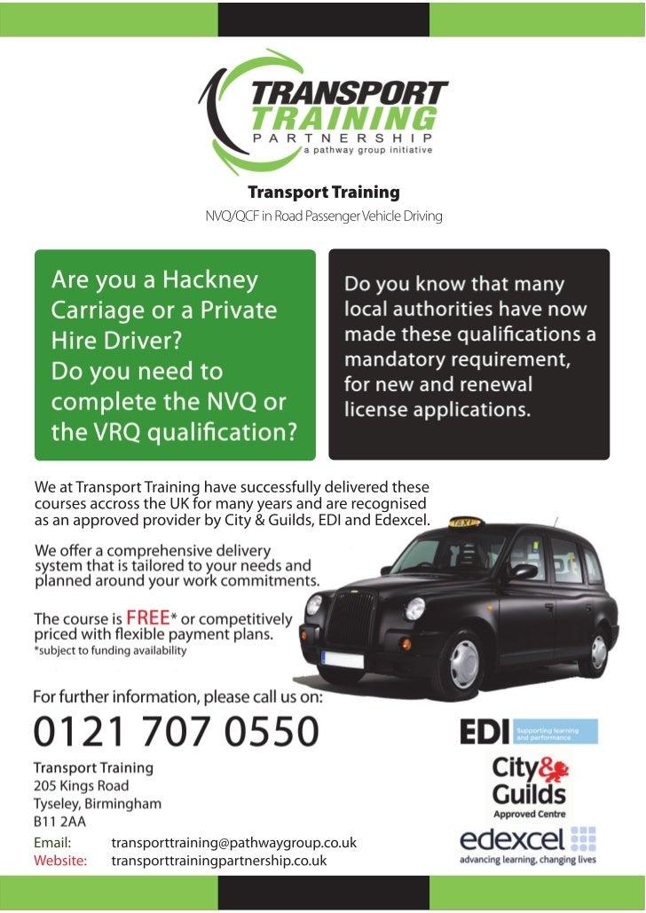 RPVD Taxi NVQ Training, RPVD Training, Taxi Training, Taxi NVQ, NVQ for taxi Drivers,