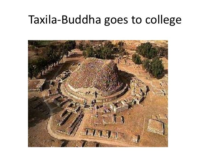 Taxila-Buddha goes to college