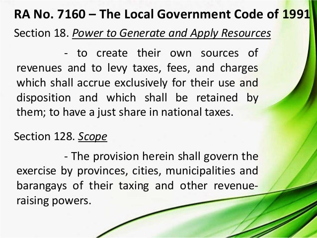 scope and limitation of tax
