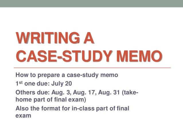 writing case study