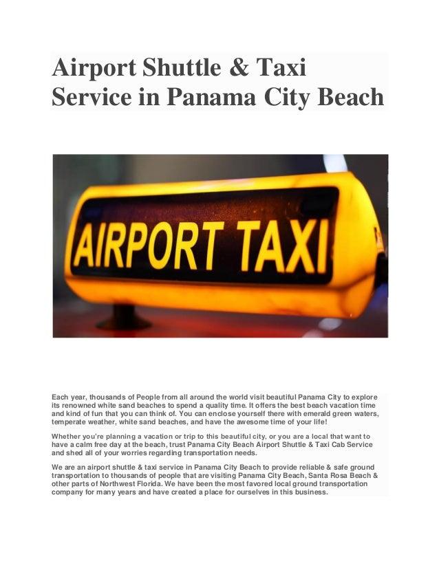 Panama City Beach Florida Airport Taxi