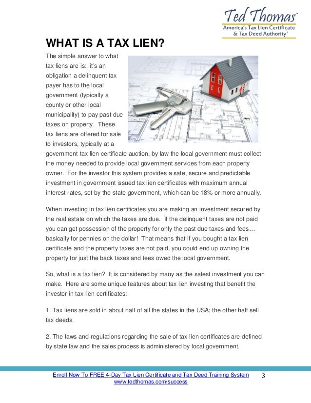 Tax Lien Investing 101 How To Invest In Tax Deeds And Tax Lien Cert