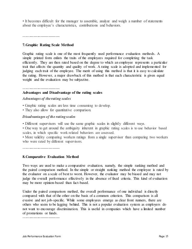 Self Evaluation Essay Examples Tax Manager Performance Appraisal
