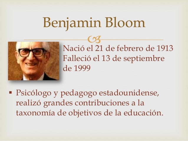benjamin bloom View benjamin bloom's profile on linkedin, the world's largest professional community benjamin has 4 jobs jobs listed on their profile see the complete profile on linkedin and discover.