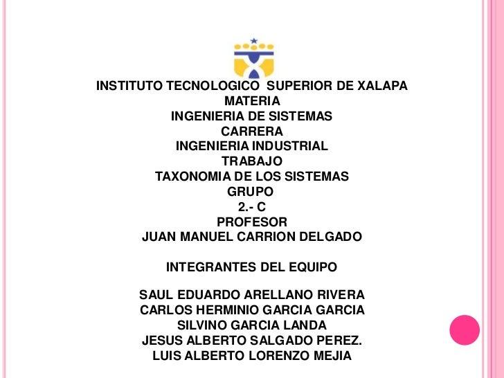 INSTITUTO TECNOLOGICO SUPERIOR DE XALAPA                   MATERIA           INGENIERIA DE SISTEMAS                  CARRE...