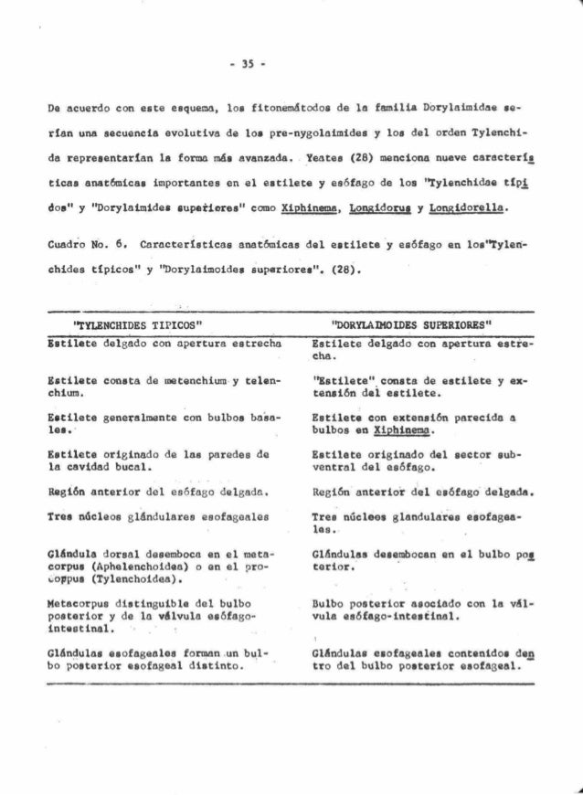 Taxonomia de Nematodos